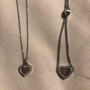 Michael Kors heart pendant necklace and bracelet
